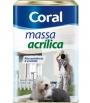 MASSA ACRILICA BRANCA CORAL 18L