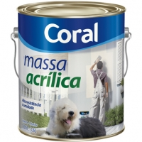 MASSA ACRILICA BRANCA CORAL 3.6L
